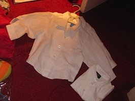 Boys' formal white shirts : 12-18 months