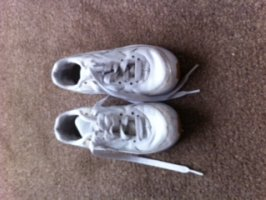 Size 11 white Girls Trainers