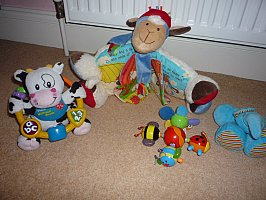 Baby toys suitable from birth to 1yr all immaculate