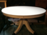 Hand Painted Oval Pedestal Coffee Table on Castors